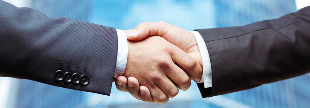 two hands meeting in the middle for a handshake